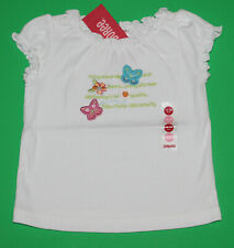 12 18 Nwt Gymboree Palm Springs White Poem Butterfly Shirt Top Girls Htf