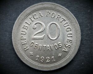 PORTUGAL 20 CENTAVOS 1921  /  SNIFF'S ANCIENT COINS T-2