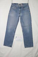 Levi's 516 SLIM FIT BOYFRIEND usato (Cod.F2819) W32 L30 denim jeans dritto baggy