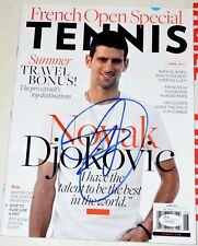 NOVAK DJOKOVIC Signed TENNIS Magazine  *JSA COA  Blue