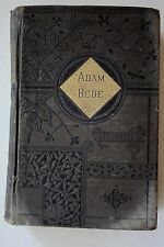 Adam Bede 1884 by George Eliot Lovely Victorian Embossed With Gold Accents