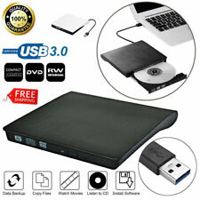 Slim External USB 3 DVD RW CD Writer Drive Burner Reader Player For Laptop HOT