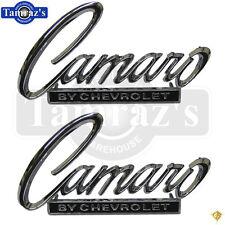 "68-69 "" Camaro by Chevrolet "" Deck Trunk Lid & Nose Header Panel Emblem PAIR"