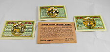 1923  German Emergency Vintage Money Banknotes 25PFG, 50PFG, 75PFG Post WWI