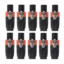 10pcs 4-Pole Male Speakon Audio Cable Connector Speaker Plug For NEUTRIK NL4FC