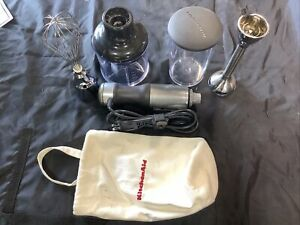 Excellent Used KitchenAid KHB2351CU 3-Speed Hand Blender Silver Ships Free