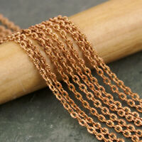 """24 Bulk Chains Antiqued Copper Cable Wholesale Jewelry Making Supplies 18/"""""""