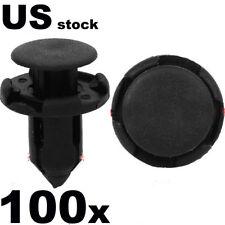 100 Pcs 9MM Rivet Fastener Fender Retainer Push Clips For Honda Accord 2002-2012