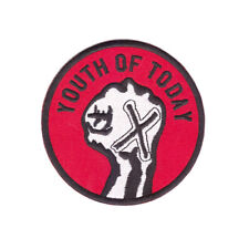 YOUTH OF TODAY Embroidered Patch - NYHC New York Hardcore sXe Gorilla Biscuits