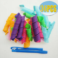 36PCS Magic Long Hair Curlers Women Nature Hair Roller Spiral Hairdressing DIY