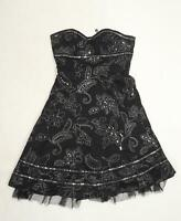 Bay Womens Black Floral  Fit & Flare  Size 10