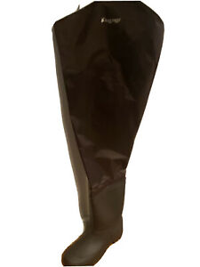 Frogg Toggs Men's Rana II PVC Bootfoot Hip Wader, Cleated , Brown, Size 12