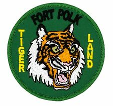 "Fort Polk Tigerland Patch (030) 3"" Round Embroidered Patch 39223"