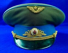 Vintage Soviet Russian Russia USSR Pilot Aviation General Vizor Hat Cap