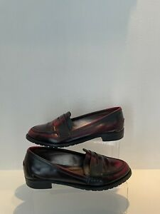 Office London Penny Loafers Patent OX Blood Shoes Size UK 7