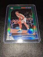 2019-20 NBA Hoops Premium Stock Green Prizm Rookie RC Ignas Brazdeikis Knicks