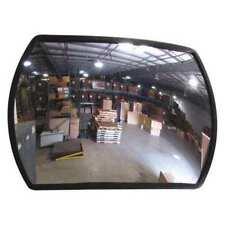 Zoro Select Srt-12X18-Gl Indoor Convex Mirror,Rectnglr,12x18in