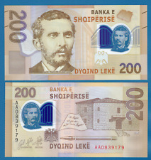 Albania 200 Leke P New 2017 / 2019 Unc Polymer Low Shipping! Combine Free!