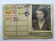 BVG 1952 - Umweltkarte / Monatskarte für Arbeitslose