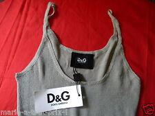 DOLCE & GABBANA TAILLE XL IT 52/52 FR 46/48 D&G TOP BUSTIER BRETELLES GRIS CLAIR