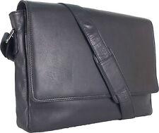 """UNICORN Réal en cuir 16.4"""" Laptop, Ordinateur Portable Sac Messager Noir #8F"""