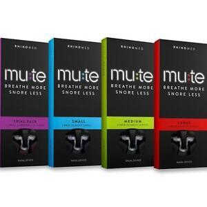 Mute Anti Snoring Nasal Device :: Trial, Small, Medium, Large :: 3 pack