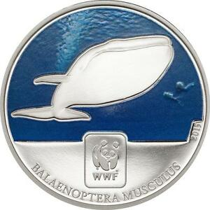 Blue Whale 2015 Central African Rep. - World Wildlife Fund Proof-like
