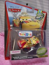 Disney PIXAR CARS 2 ✿ MIGUEL CAMINO with Metallic Finish ✿Gold✿ TOYS R US ✿Race
