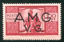 1945/7 AMG VG Democratica 100 lire formato maggiore nuovo integro spl ** MNH