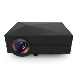 GM60 Video Projector Mini LED With 800x480p 1000 Lumens Multimedia HDMI VGA USB