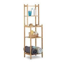 Relaxdays - badkamerrek bamboe met 5 vakken - keukenrek - hout - rek 5 etages