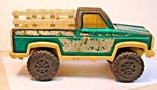 Vintage BUDDY L FARMS GREEN PICKUP TRUCK good for parts!