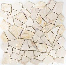 Marmor Bruchmosaik golden cream poliert mit Struktur Art:44-30-28 |10 Matten