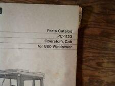 John Deere 880 Windrower Parts Catalog Manual Book Original Pc-1123