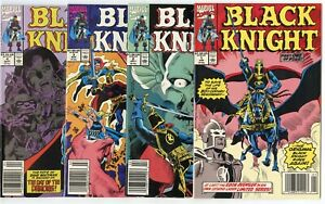 Black Knight #1 - 4  Complete Set  avg. NM 9.4 white pages  Marvel 1990  No Resv