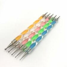 5Pcs Spiral Indentation Pen Double Head Carving Sculpture Sculpting Tools Art Cr