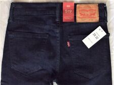 Levi's Men's New 519 0012 28x32 Blue Extreme Skinny Fit Stretch Jeans Low Rise