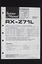 Pioneer rx-z71l original Platine cassette Récepteur manuel de service /
