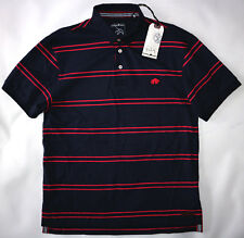 RAGING BULL MENS JERSEY POLO SHIRT IN NAVY SIZE M NWT