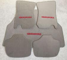 Autoteppich Fußmatten Kofferraum Set Ford Capri 2 - 3 Grau-rot 5tlg. Neu Velours