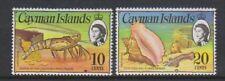 Cayman Islands - 1974, 10c & 20c stamps - Wmk Diagonal & Inv - MNH - SG 352, 417