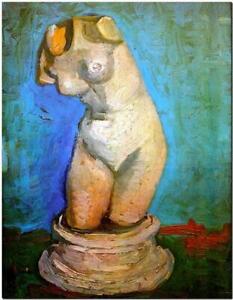 """Vincent Van Gogh CANVAS ART PRINT Female torso 16""""X 12"""""""