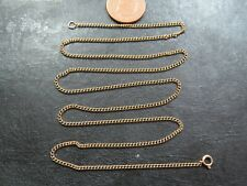 VINTAGE 9ct GOLD CURB LINK NECKLACE CHAIN 23 inch C.1990