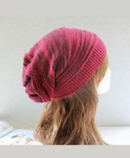 Women Men Warm Winter Baggy Beanie Babby Knitted Crochet Ski Hat Slouch Cap