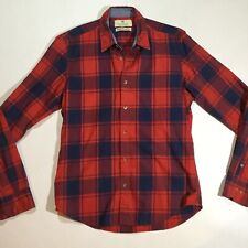 Scotch And Soda Mens Sz M Long Sleeve Fitted Button Down Checker Shirt Red Navy