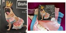 "PetCo Bootique""Princess""S/M Dog Costume Halloween Rumba Tutu Gold Crown Pink 3Pc"