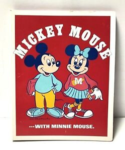 Vtg Walt Disney Productions Binder Mickey Minnie Mouse Lyric Card Made in Japan