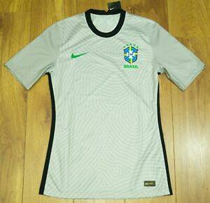Brazil 2021 Player issue Grey Short sleeves GK shirt / Jersey Size Mens M