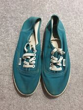 Vans Womens Trainers Size 5 Turquoise Good Condition