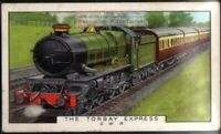 Torbay Express GWR King Class 80+ Y/O Ad Trade Card